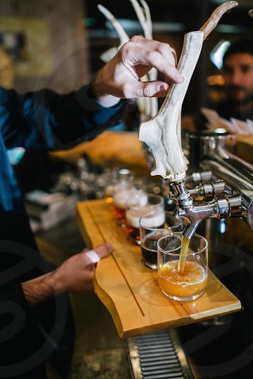 Craft beer sample tasting brewery photo
