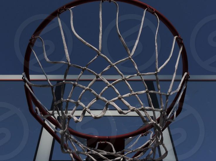 Basketball net hoop string rope photo