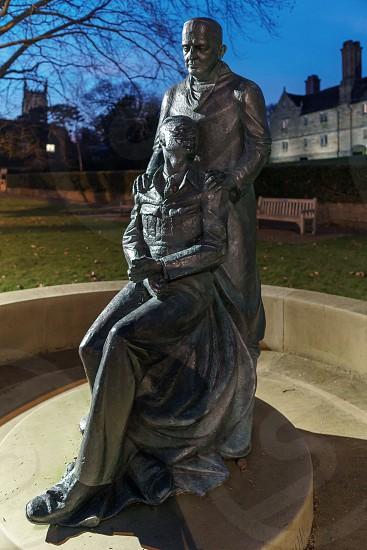 EAST GRINSTEAD WEST SUSSEX/UK - JANUARY 4  : McIndoe Memorial at night  in East Grinstead on January 4 2019 photo