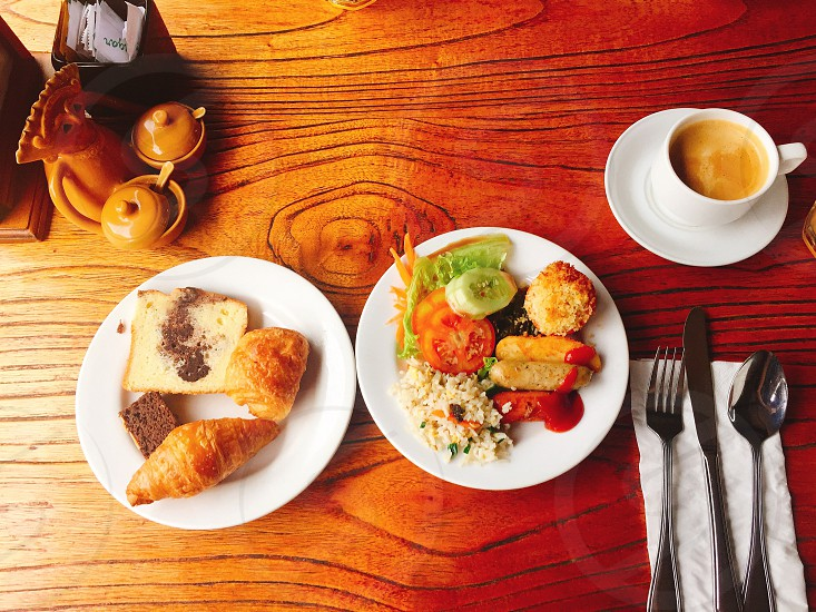 Morning breakfast bread dish eat eating photo