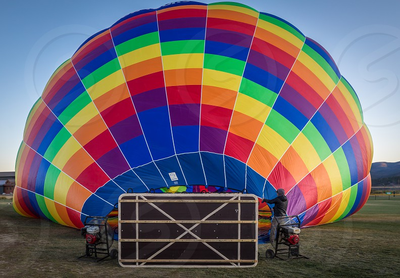 Impressions from a balloon ride over the Rocky Mountains in Colorado photo