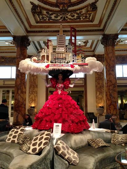Beach Blanket Babylon statue in The Fairmont Hotel SF lobby photo