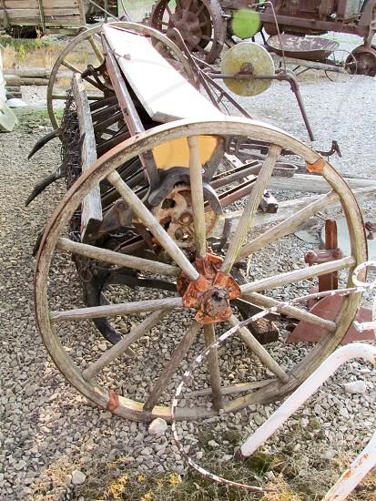 Vintage antique plow planter. photo