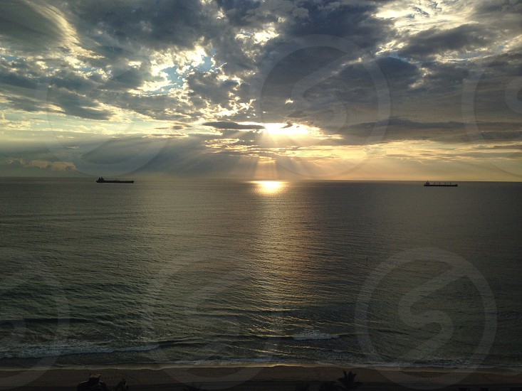 Sunrise - between Vessels who passed in the night... photo