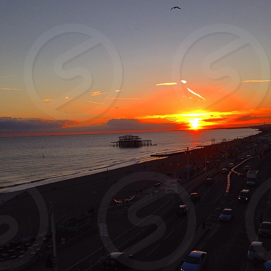 Brighton sunset photo