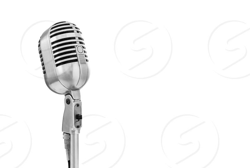 Electro-Voice 726 vintage microphone on white background photo