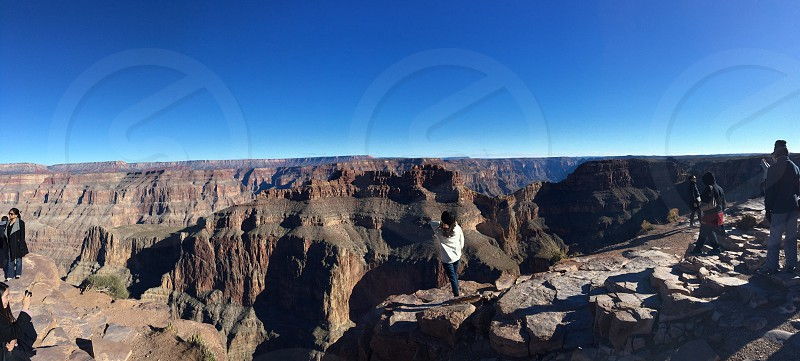 Grand Canyon Mountains Cliff Arizona Pointing Abyss Adventure Travel Vacation Fun Horizon photo