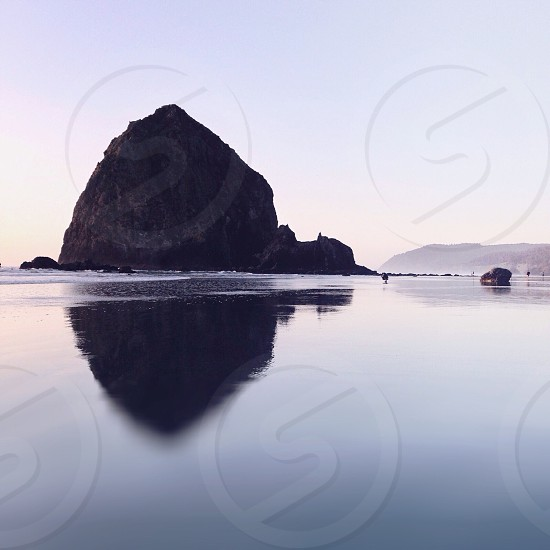 mountain and water landscape photo