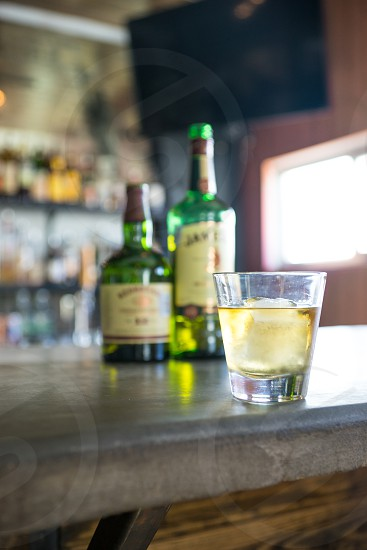 Irish Whiskey Hero Shot. (Jameson & Redbreast in background.) Edits available. Please credit: Mettle East Austin Bistro. photo