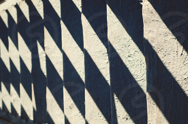 Shadows on the steps to the beach in Northern California. photo