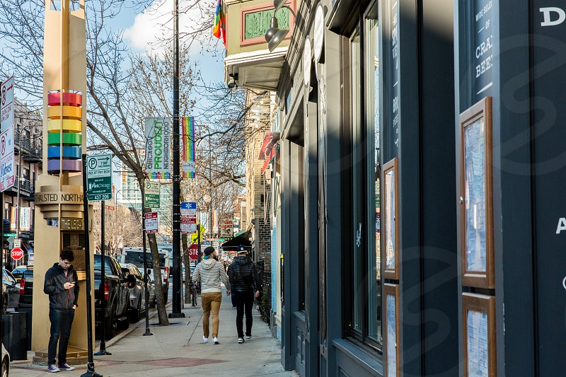 The Boystown neighborhood in Chicago IL. photo