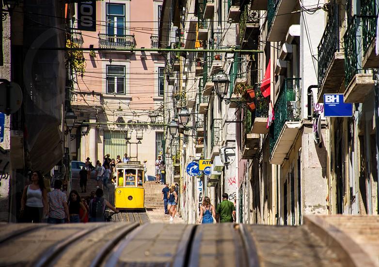lisbon old streets photo