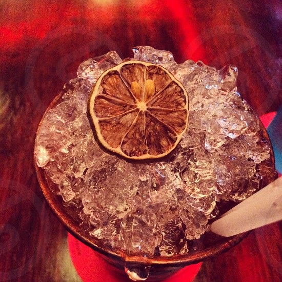 Ice & lime. photo