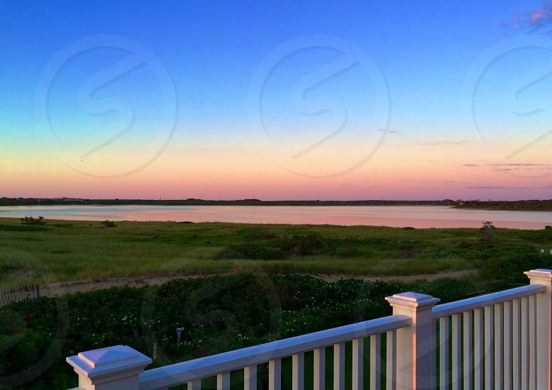 Sunrise on Sesachacha Pond photo