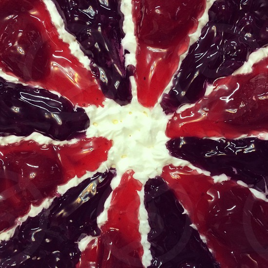 Blueberry and strawberry cheese cake photo