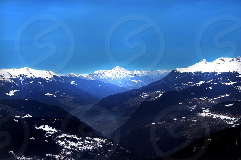 Mont Blanc France Alps Snow Mountains photo
