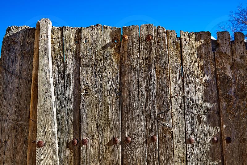 Aged wood fence in Sierra de Albarracin Teruel Spain photo