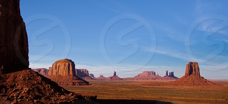 Scenic View of Monument Valley in  Utah photo