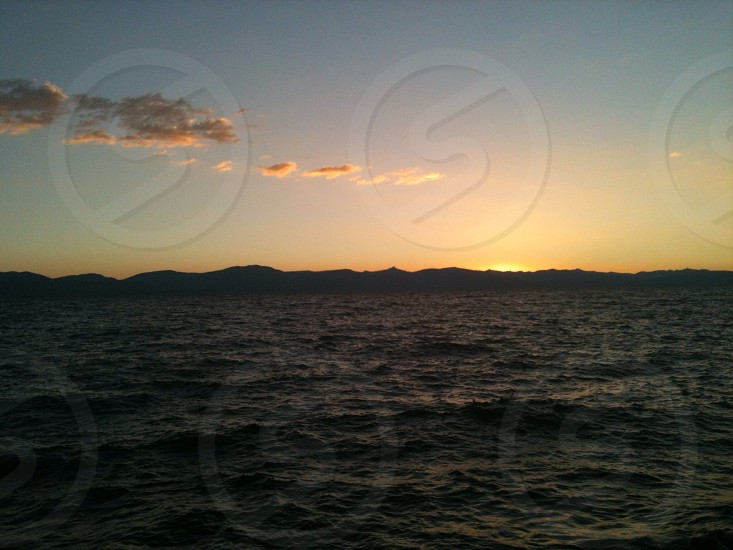 sunrise view over ocean photo