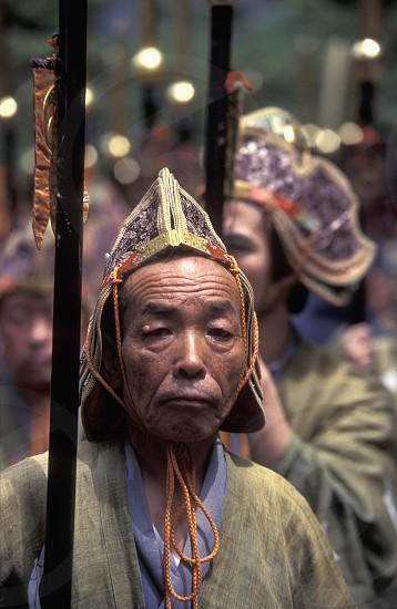 the historical festival in the Shrines of Nikko in the north of Tokyo in Japan in Asia photo