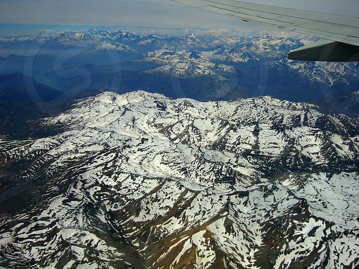 Flight over Andes photo