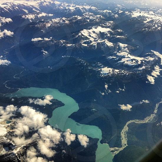 Glacial river photo