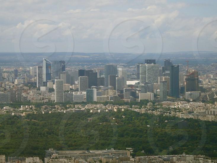 aerial view Paris France photo