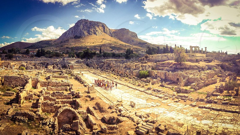 Ruins of Corinth Greece photo