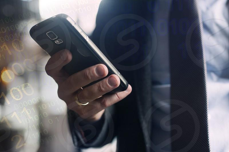 Mobile smartphone data transfer photo