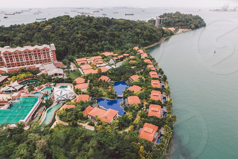 areal photo of resort during daytime photo