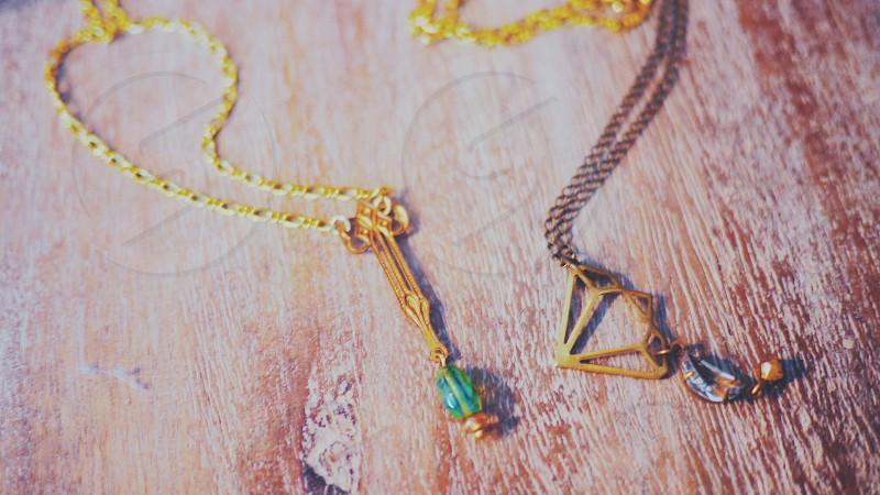 Vintage pendant necklaces photo