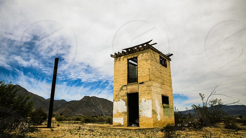 Architecture building California Southern California desert abandoned photo