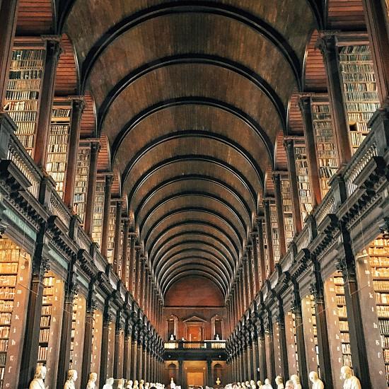 Ireland library Dublin books hall halls historic architecture photo