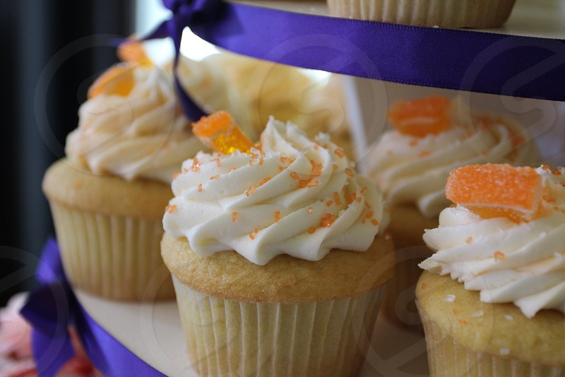 Orange topped cupcakes photo