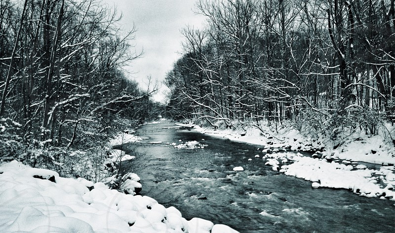 view of snowy river photo