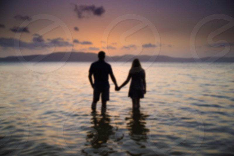 Couple with blur effect photo