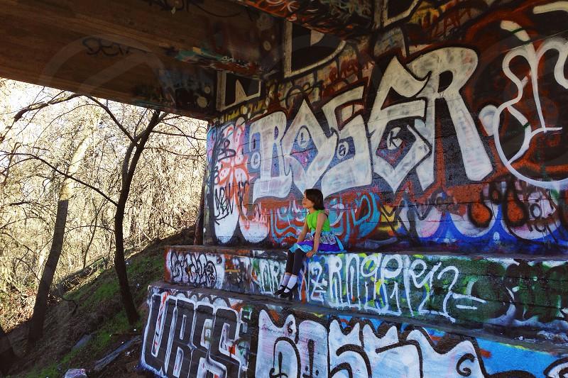 Under the Stevenson Bridge Yolo County CA photo