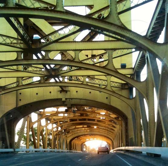 Driving Over The Richmond San Rafael Bridge.  photo