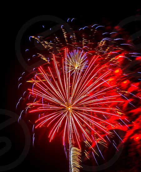 Night time fire works  photo