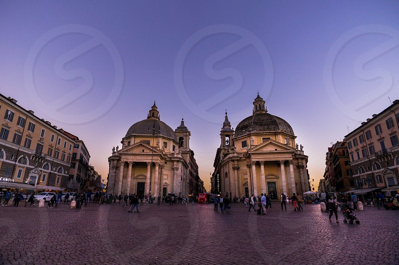 2 buildings with dome photo