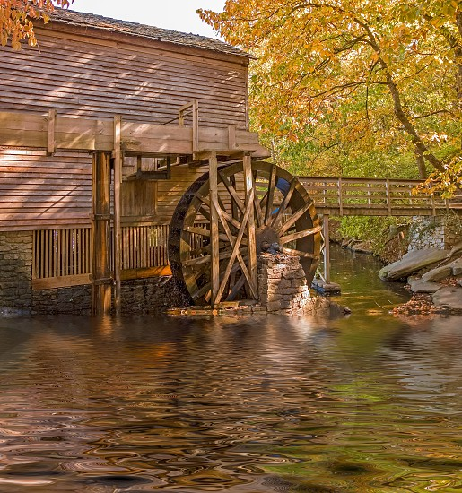 Much of my childhood was spent wandering the woods surrounding what was then the peaceful park around Stone Mountain in Georgia. This old grist mill is one of the few structures still left from that time. photo