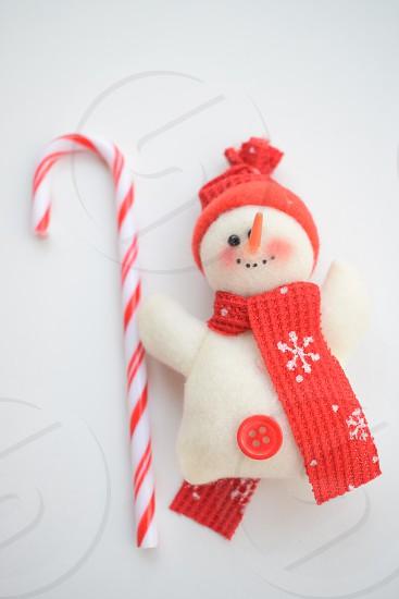 Christmas candies snowman winter holidays photo
