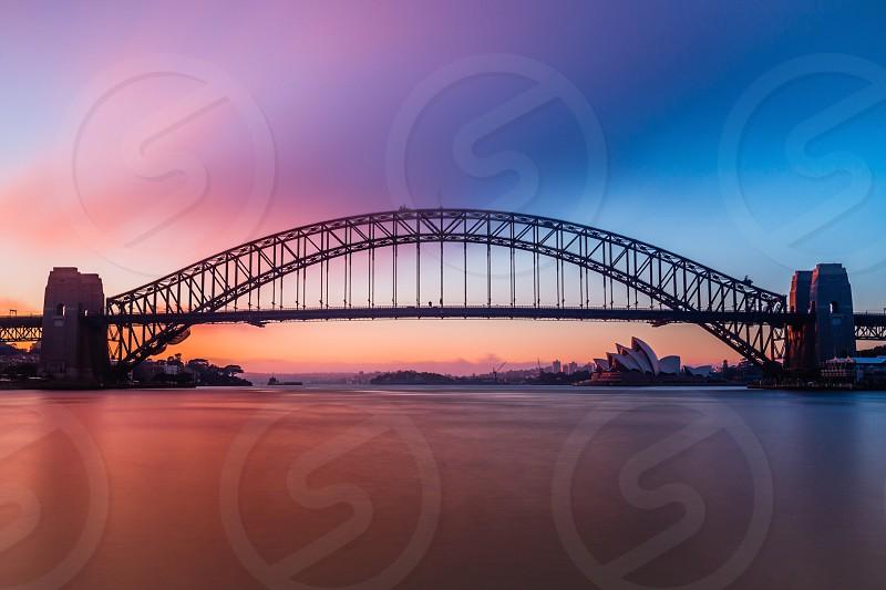 Sydney Opera house long exposure Australia water sunrise color photo