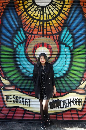 #women #blazer #ootd #mural #graffiti  photo