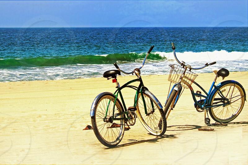 bikes on the beach photo