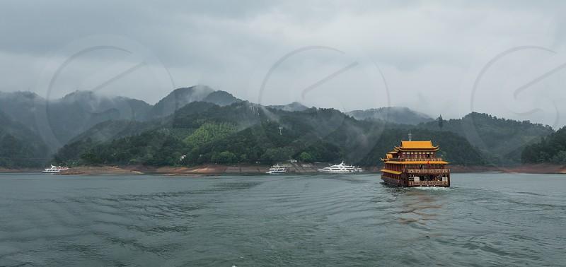 Qian Dao thousand islands in China photo