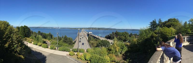 Seattle I-90 floating bridge  photo