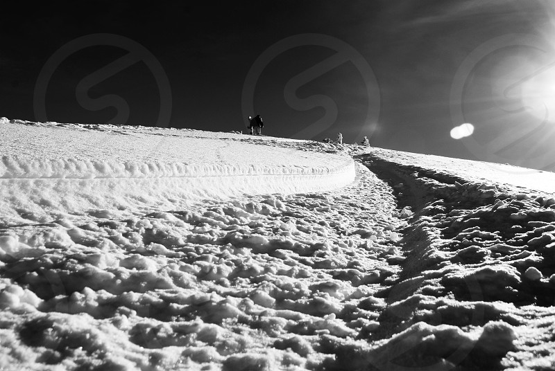 Chasing light and chasing pow photo