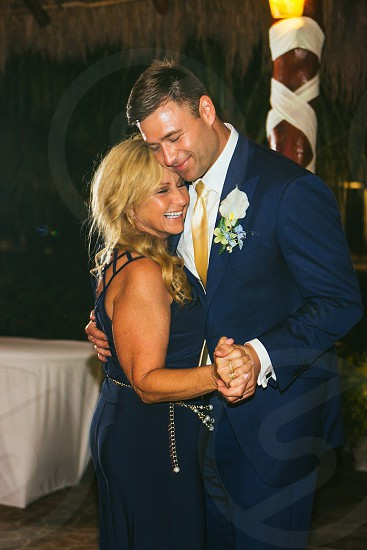 Mother son dance at a wedding photo