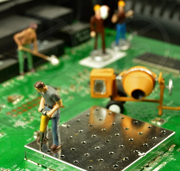 Miniature workers photo